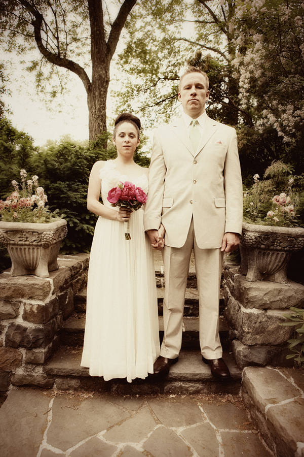 Vintage Wedding Portrait - NJ Wedding Photography