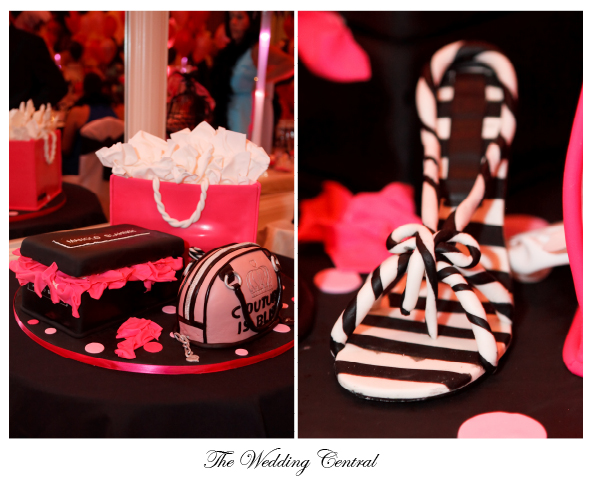 Cake Boss Couture Cake Hot Pink Black and White