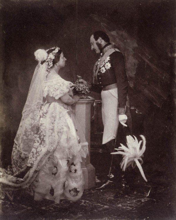queen victoria wedding picture - first wedding photograph ever