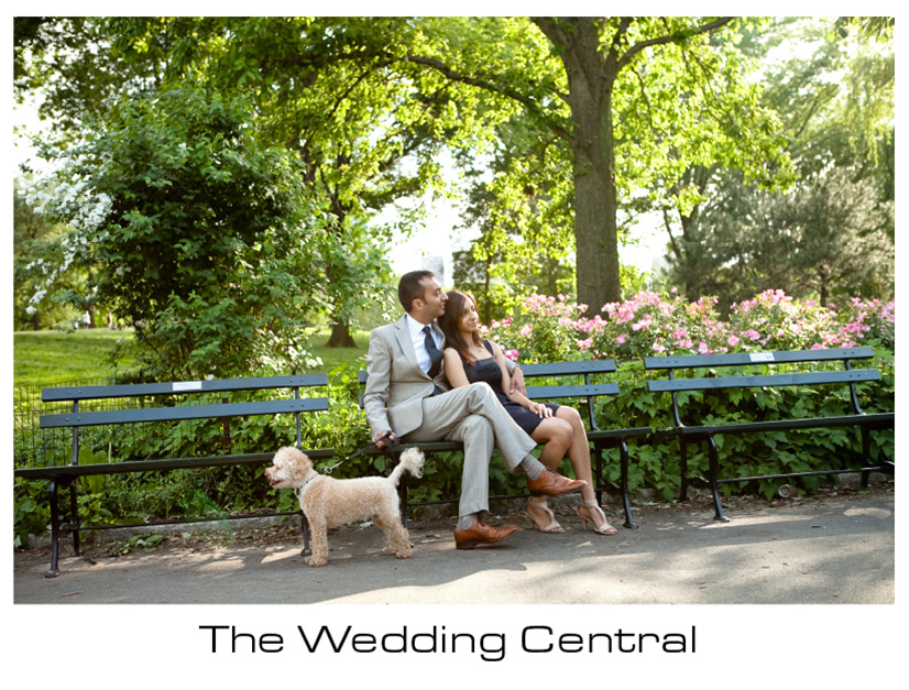 New York Engagement Photographer - Couple sitting at Central Park