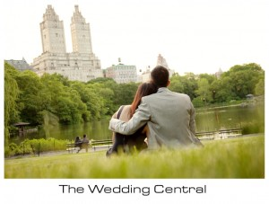 New York Engagement Photographer - BW bride and groom hugging and looking Central Park
