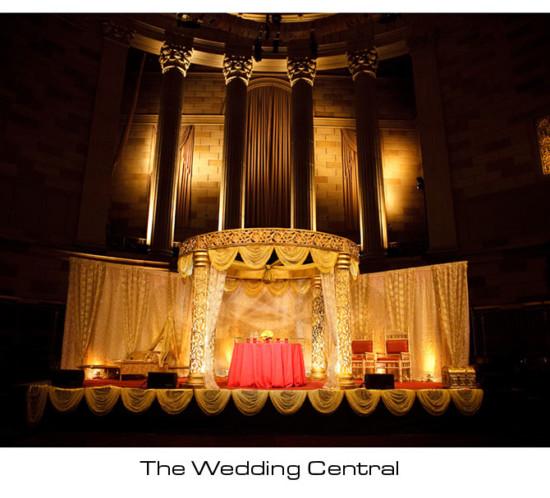 NYC Indian Wedding Photographer, Indian Wedding Mandap Gotham Hall NYC