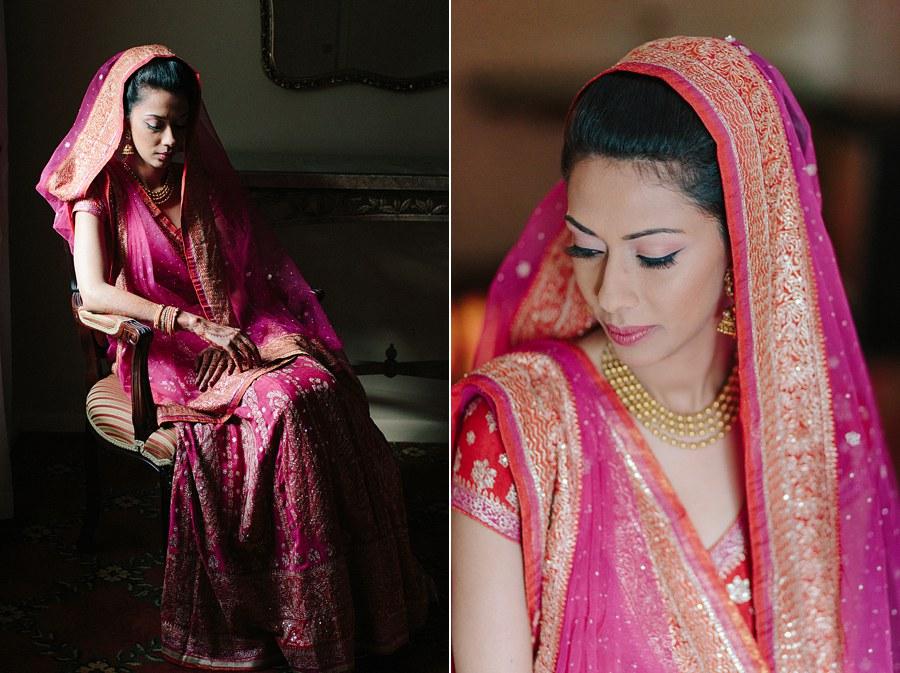 Chiaroscuro portrait of Indian Bride