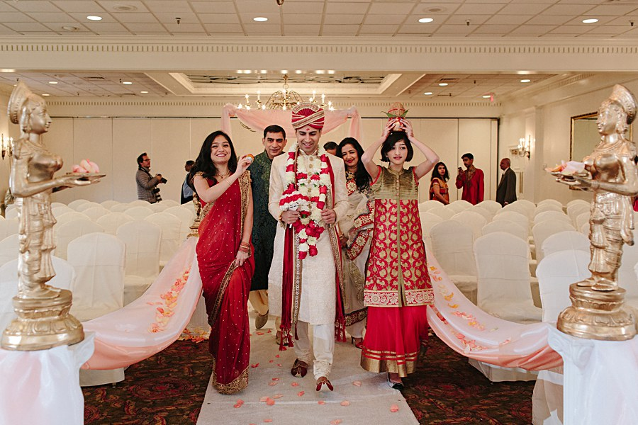 Groom Walking in during his Indian Wedding